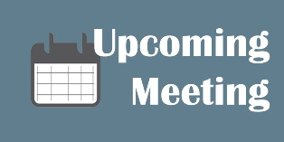 Upcoming Meeting Notice